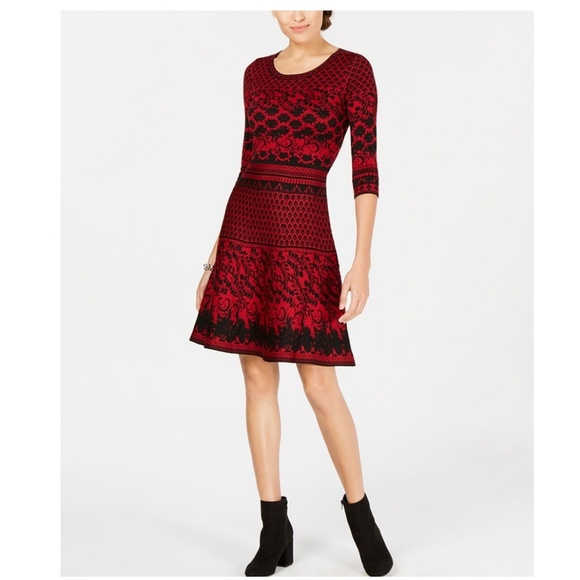 Taylor Dresses & Skirts - TAYLOR Jacquard Fit and Flare Dress